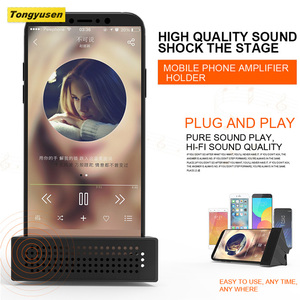 Mini portable magaphone speaker audio amplifier with phone holder