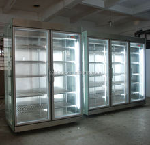 Glass door showcase cooler used flower display refrigerator