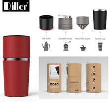 Diller All In One Travel Outdoor Single Cup Espresso Mini Hand Manual Portable Coffee Maker