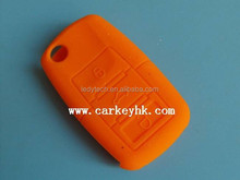 vw car silicone key house cover 3 button wholesale in orange