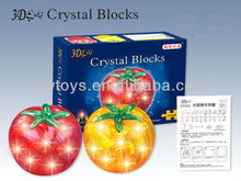 CRYSTAL TOMATO 3D CRYSTAL PUZZLE WITH LIGHT