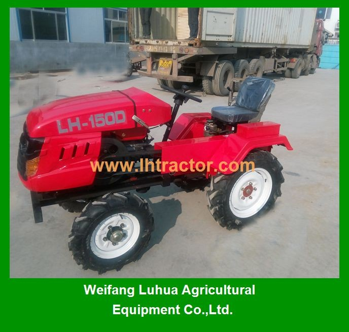 China farm used 15hp mini four wheel tractor for sale