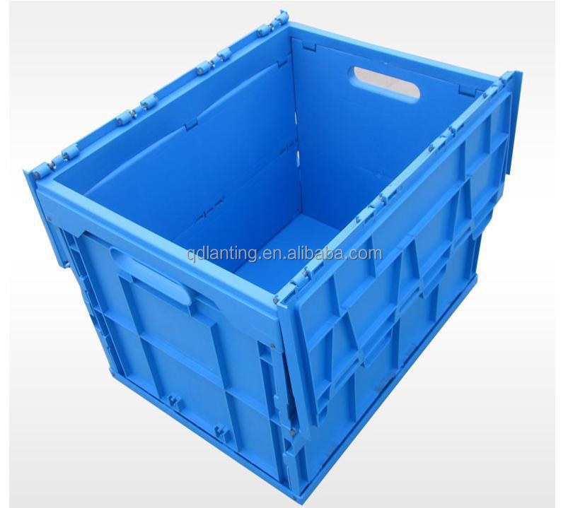 vegetables folding plastic crates for storing milk, vegetables, eggs folding crate