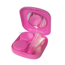 Optional Solid Pocket Mini Contact Lens Case Box Travel Toiletry Kit Portable Carry Mirror Container Candy Colors
