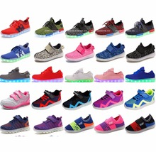 FAST SHIPPING 100% Original High Quality men/women/kids led LAMP SHOES USB chargeable SHOES