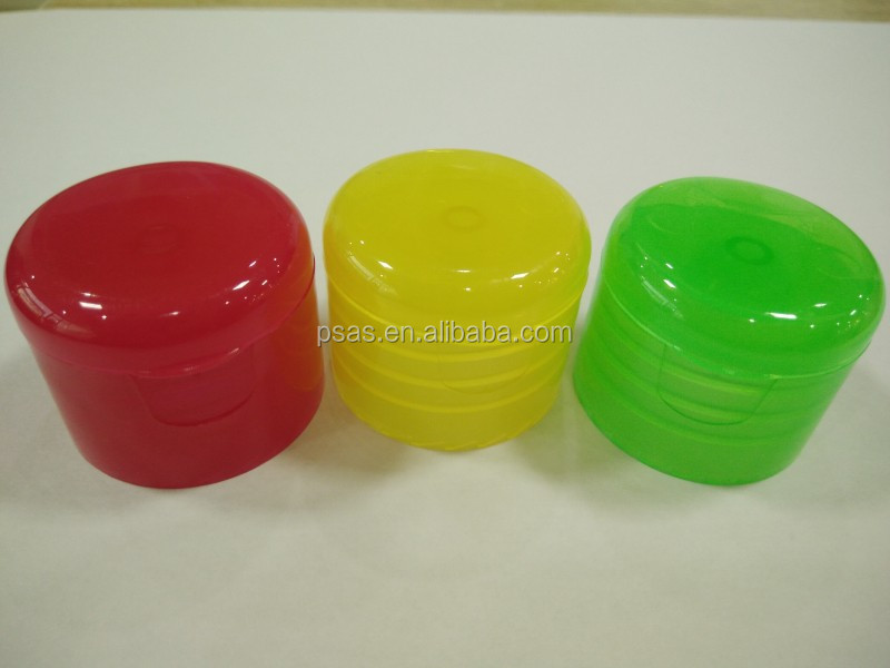 28 mm 410 Clear Colorful Plastic Flip Top Cap for Bottle