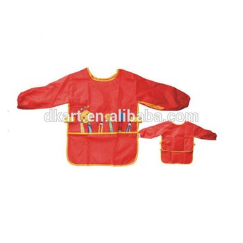 Red Kids Polyster custom printing for dollar store painting promotion apron