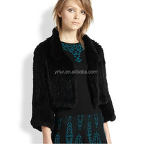 YR666 knit Fur Clothing Fashion/Rabbit Fur Clothing without Lining from Fur Manufacturer