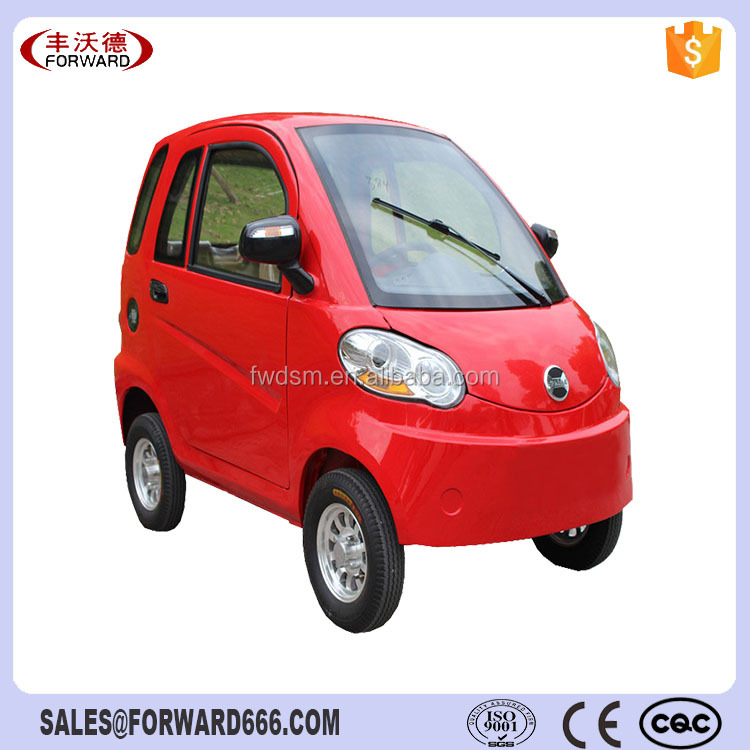 Disc steering 4 wheel closed electric tricycle