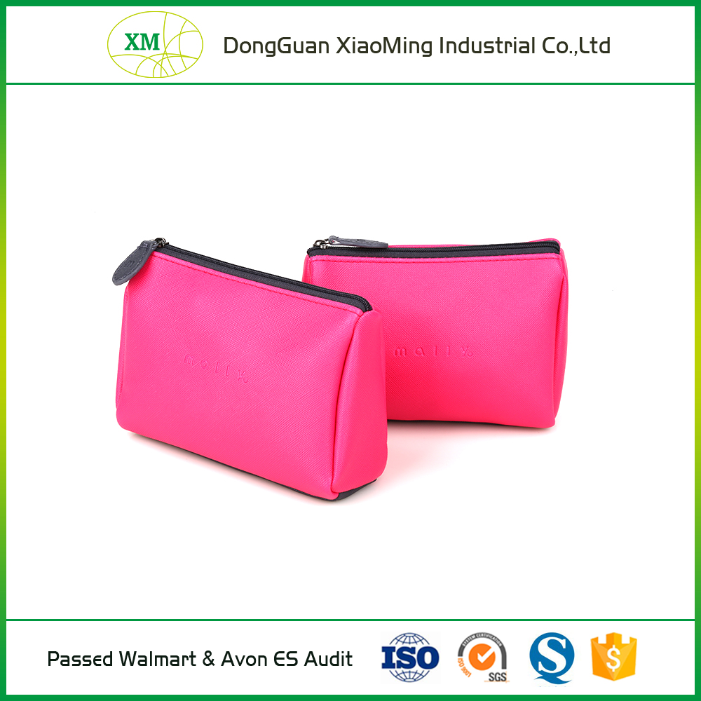 HY pink and customized PU ladies travel cosmetic bags for promotion cosmetic gift