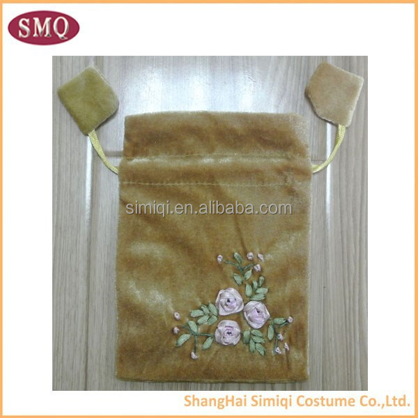 wholesale hand made embroidery customized Jewelry bag