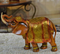 Resin casting indian elephant statues