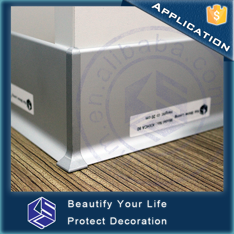 Home decoration wall protection vinyl waterproof Aluminum skirting board