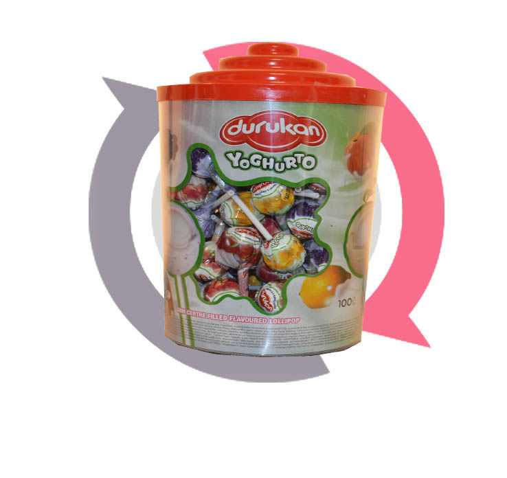 lollipop yaghurto 100pcs