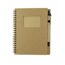 Composition book with pen