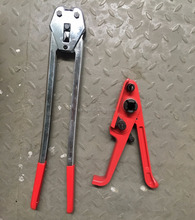 Manual steel band strapping tool for steel belt