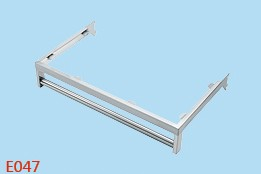 Wholesale custom stainless clothing hanging rail E047