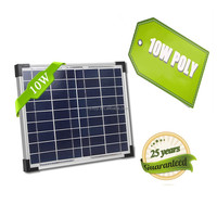 25 Years Life Span High Efficiency 10 Watt Solar Panel Monocrystalline Pv Module