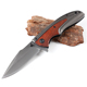 Stainless steel folding pocket knife EDC outdoor knife with wooden handle