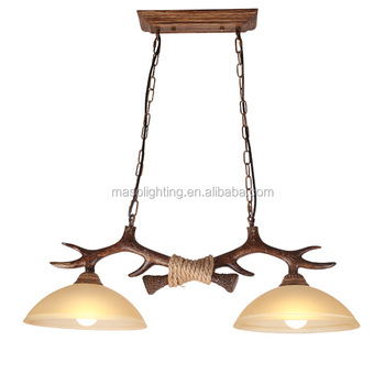 Glass antler chandelier lamp decoracion vintage house replica lighting fixture reindeer lights lamp ball hanging