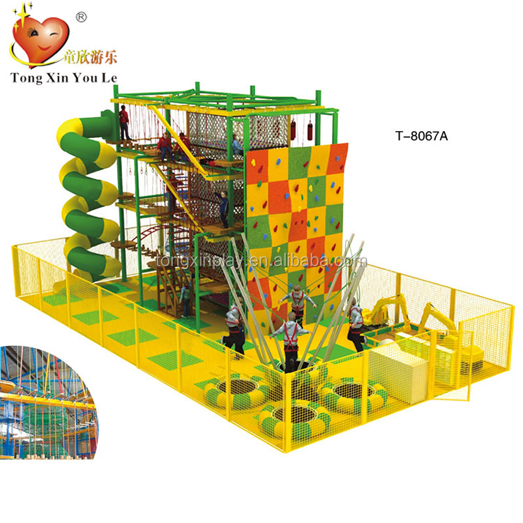 Indoor commercial kids exploration rope course outward bound equipment