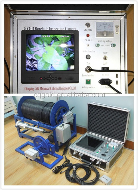 500m Borehole Inspection Video Camera GDGY Camera for Underwater Well