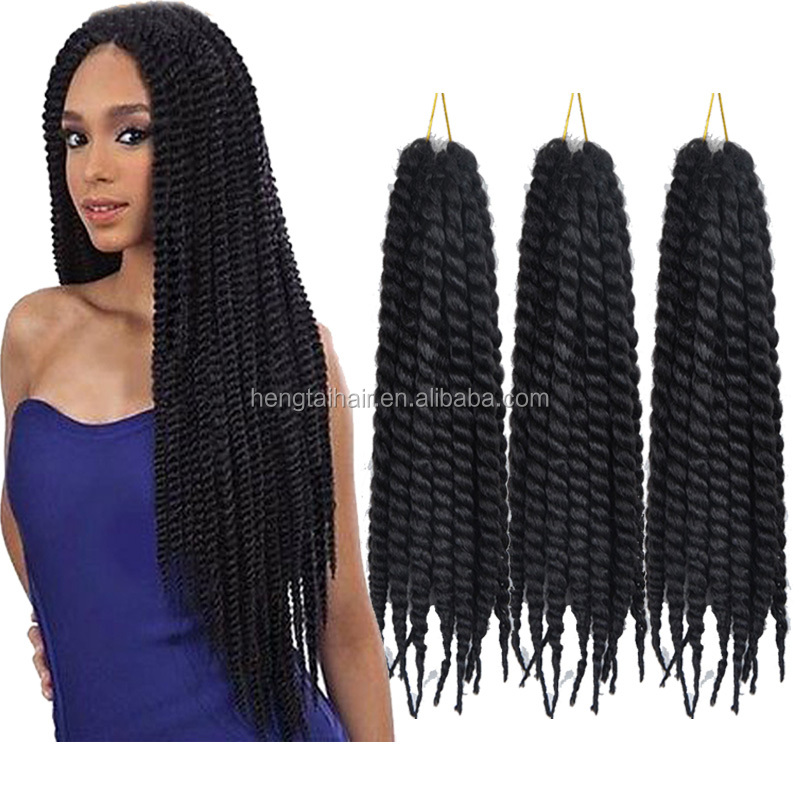 Havana Mambo Twist Crochet Braid Hair 75g/pack Synthetic Ombre Kinky Marley Twists Braiding Hair Extension