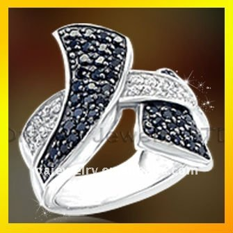 2012 NEW brass or sterling silver 925 designer ring jewellery with clear stone