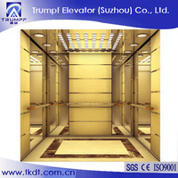 Passenger Elevator With Luxury Decoration Cabin
