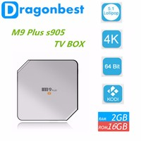Latest Chipset Amlogic S905 Quad Core Tv Box 4K Video Playing Cheap Android M9 plus Smart TV Box
