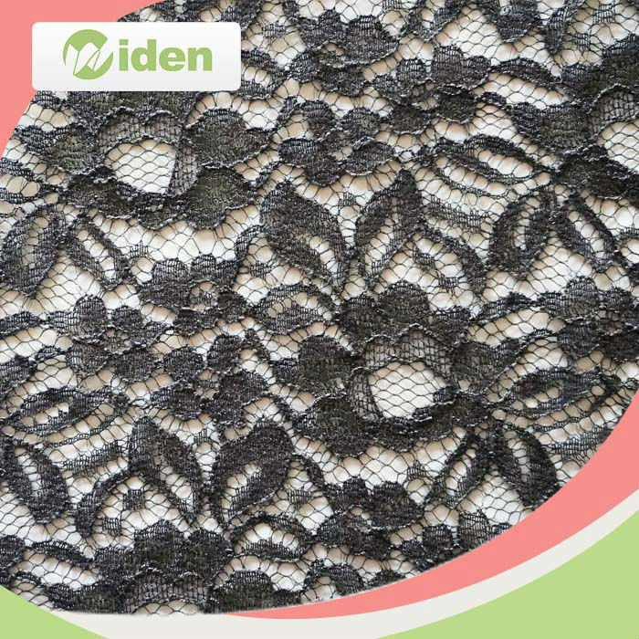 Factory direct wholesale black color nylon Italian lace fabric