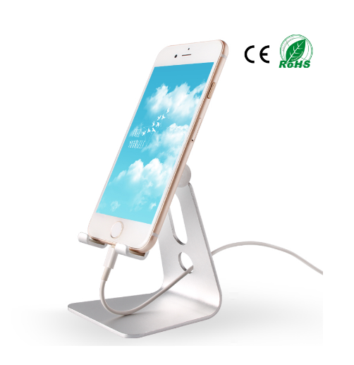 2016 High quality mobile phone holder no charger for car with metal mobile phone tablet stand with 3 colors