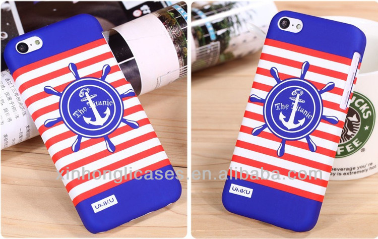 rubber coating tranfer printing phone case for iphone 5C