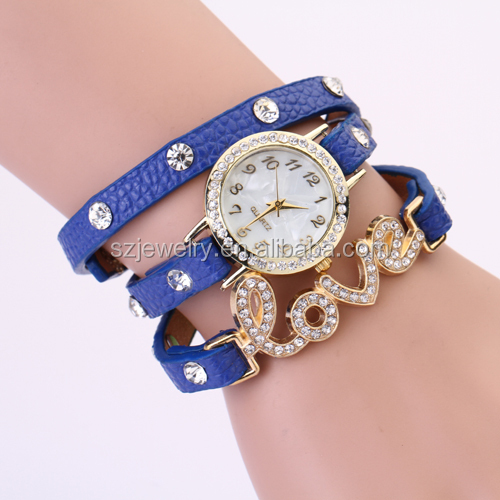 2016 Fashion Ladies Wrist Watch Bracelet Watch alloy vogue women watch with diamond