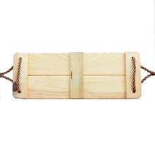 Brand wholesale new design Deep mountain pine outdoor single seat wooden swing for kids