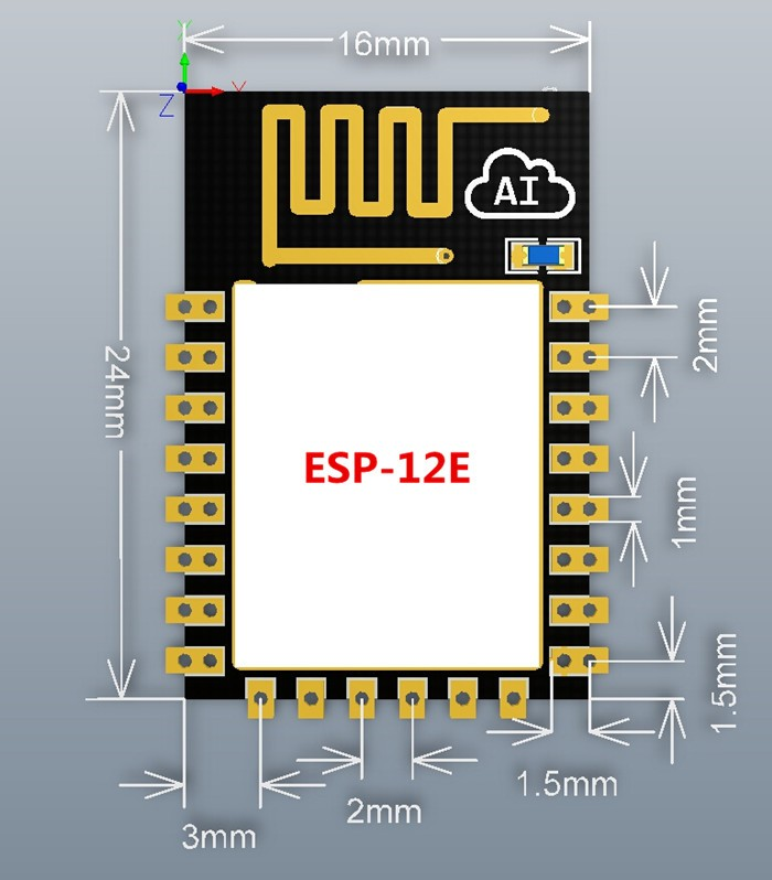 New version ESP-12E ESP8266 remote serial Port WIFI wireless module