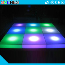 RBG color changeable battery rechargeable modern night club led floor