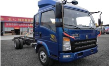 China SINOTRUK 4x2 168hp Light Cargo Truck Chassis