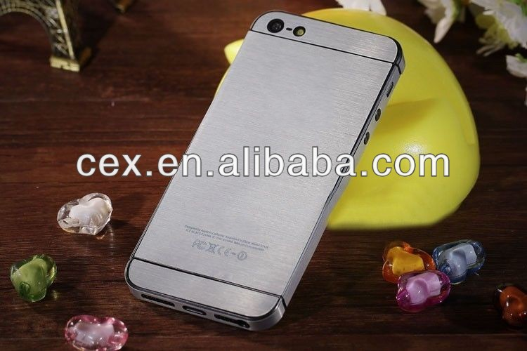 For iPhone 5 5s Sticker Brushed Metallic Decal Full Body Sticker Colorful Skin