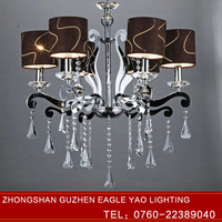 Six Piece Set Candle Crystal Chandelier Wall Lamp Droplight Lamp Shades