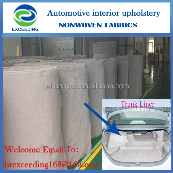 Car trunk liner nonwoven fabric polyester felt