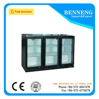 Benneng brand SC300L 3 door beverage cooler/commercial refrigerator showcase/display cooler