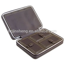 Wholesale hard shell leather jewelry briefcase