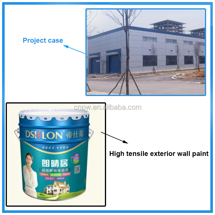 Mutil-functional high tensile elastic home use waterproof wall paint for construction