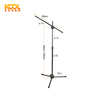 MS-70B Adjustable Tripod Double Microphone Holder Stand Flexible Microphone Stand