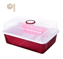 plastic houseware dish drainer rack kitchen with lid