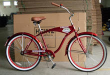 Heinz red color beach cruiser bike beach cruiser