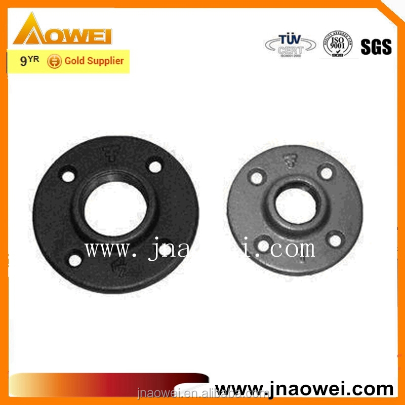 black floor flange from jinan flange supplier