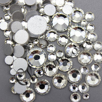 Flat Back Non Hot Fix Rhinestone Clear Crystal Color For Nail Art Factory Supply