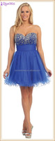hot sale blue strapless beaded sweetheart short ball gown pictures of dresses of graduation